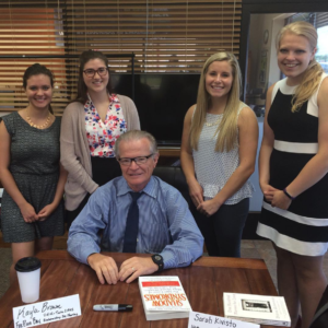 ACR interns with Jim Nelson.