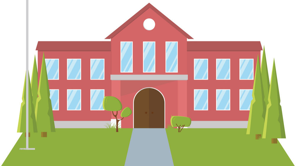 back-to-school-concept-school-yard-with-trees-and-vector