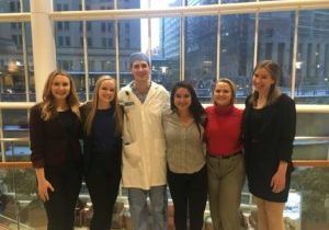 Pre-Med & Pre-PA interns with Daniel Plack, MD (and former employee!) at Mayo