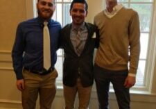 Dawson (right) with his supervisor and co-worker Spencer who both won Internship Impact Awards