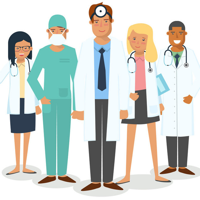 set-of-medical-workers-vector-13699295